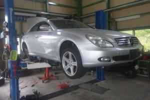 W219 CLS リヤエアサス交換                                豊田市 ベンツ修理