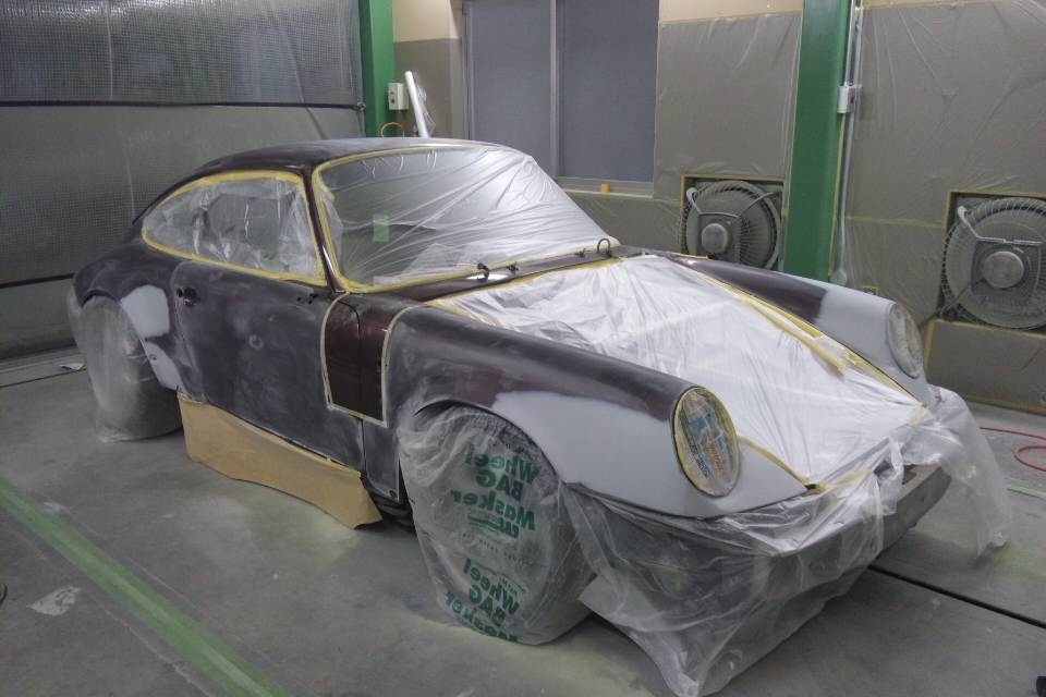 カローラ フィールダー スポイラー塗装     板金塗装   豊田市