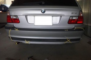 BMW E46 板金&マフラー交換   BMW板金塗装 豊田市