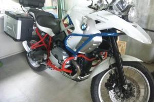 BMW  バイク フレーム塗装   豊田市  板金塗装