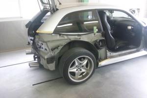 BMW  Z3  Mクーペ  クオーター交換  豊田市   板金塗装