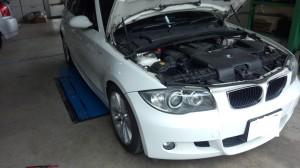 BMW 1シリーズ オイル漏れ修理              豊田市 BMW修理