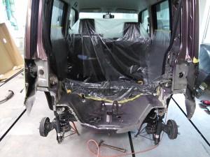 コンテ リア  追突事故 修理   豊田市   板金塗装