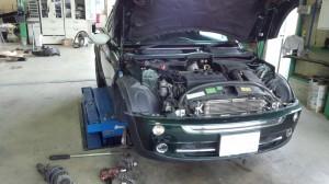 BMW ミニ ハンドル切ると異音   E46ベルト切れ修理など