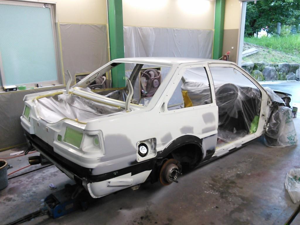 AE86 全塗装 途中経過  板金~塗装編         豊田市   板金塗装