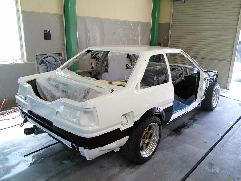 AE86  全塗装  途中経過  塗装~組み付け編   豊田市  板金塗装