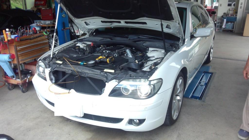 BMW E65 740 エンジンふけない  ボルボ V70エンジン始動不能            輸入車修理 豊田市
