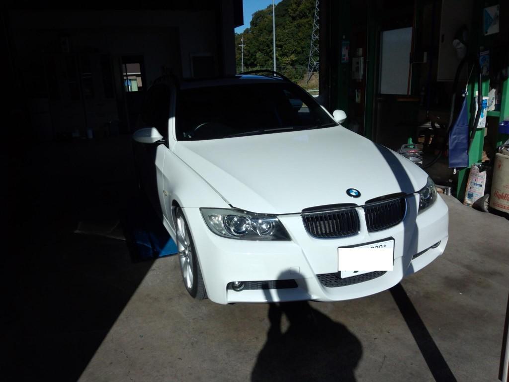 BMW E91 320ツーリング エアバックコンピューター不良などなど       BMW故障診断 藤井自動車