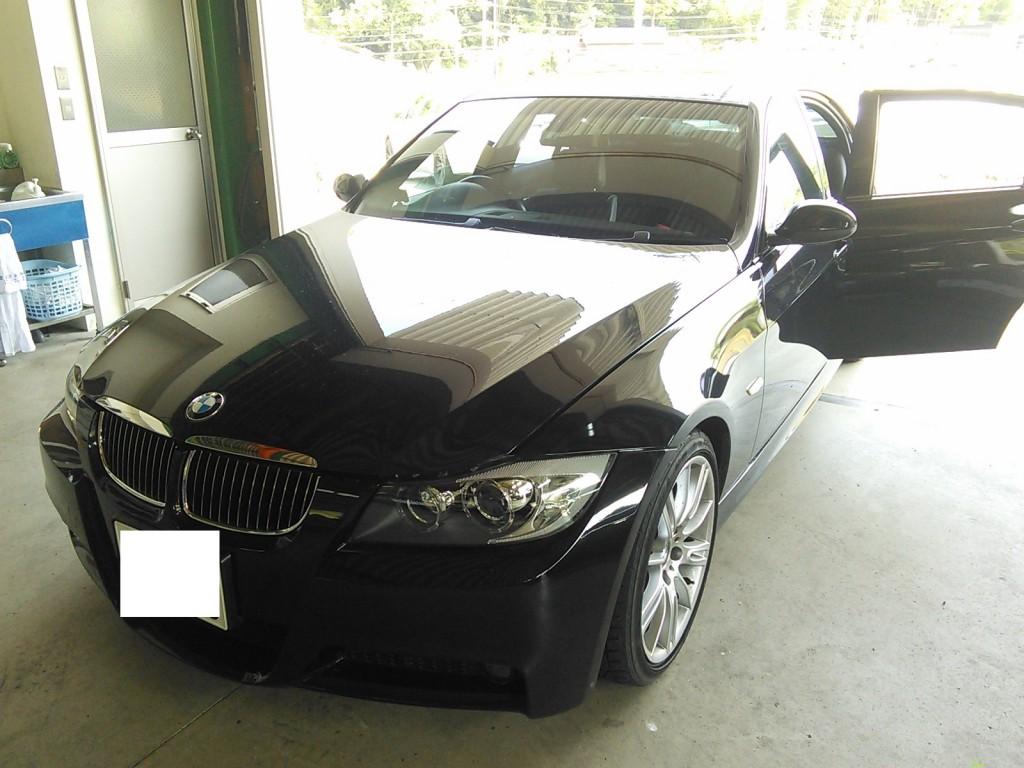 BMW ガラス脱落 修理 車検整備など
