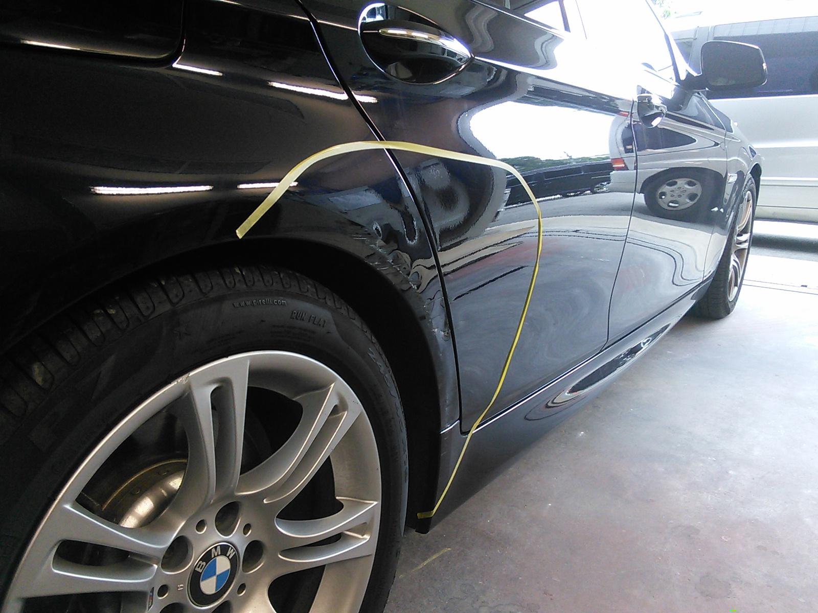 BMW 板金塗装 ブレーキ警告ランプ点灯