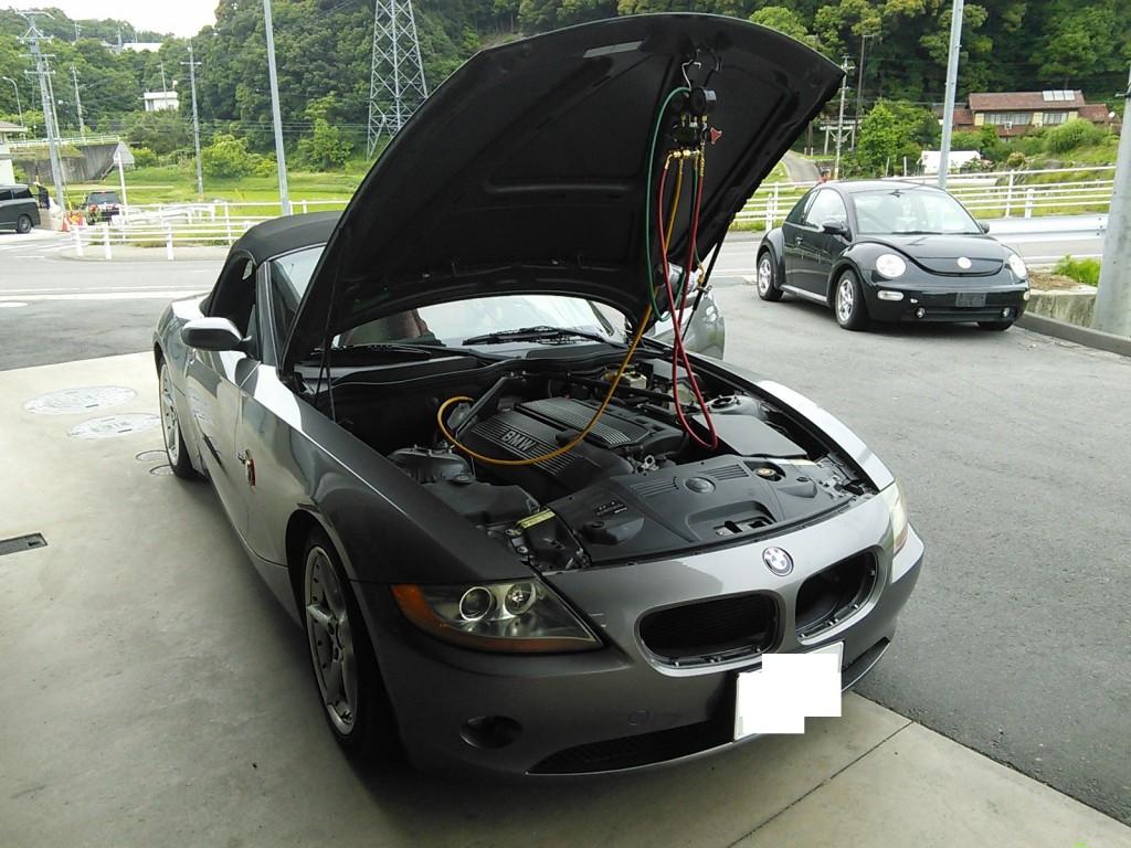 BMW Z4 SMG ニュートラルに戻ってしまう エアコン効かない Snap-on PS134 PRO施工