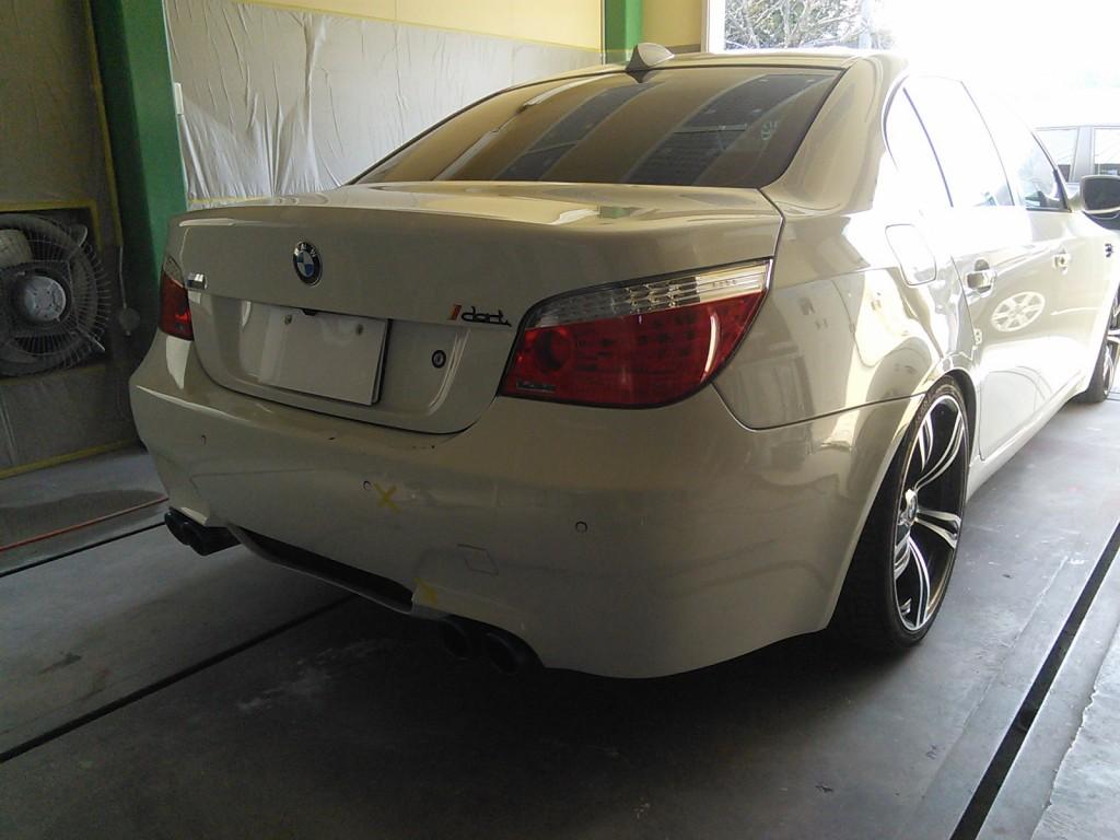 BMW  E60 リアバンパー交換 その他 加工 カスタム 豊田市  板金塗装