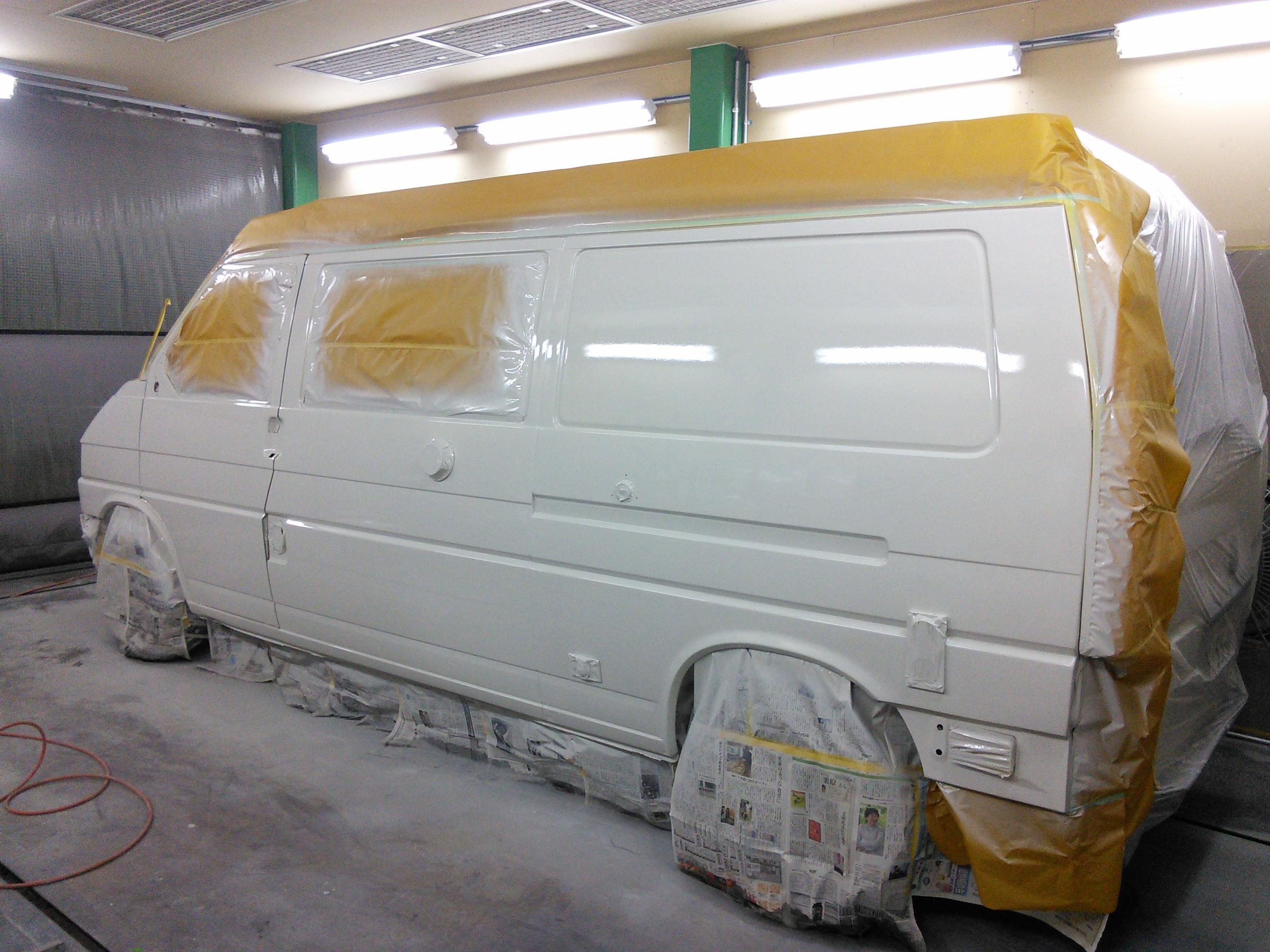 ワーゲン ヴァナゴン キャンピングカー 左側面修理 トラブルいろいろ(;^ω^)   豊田市  板金塗装