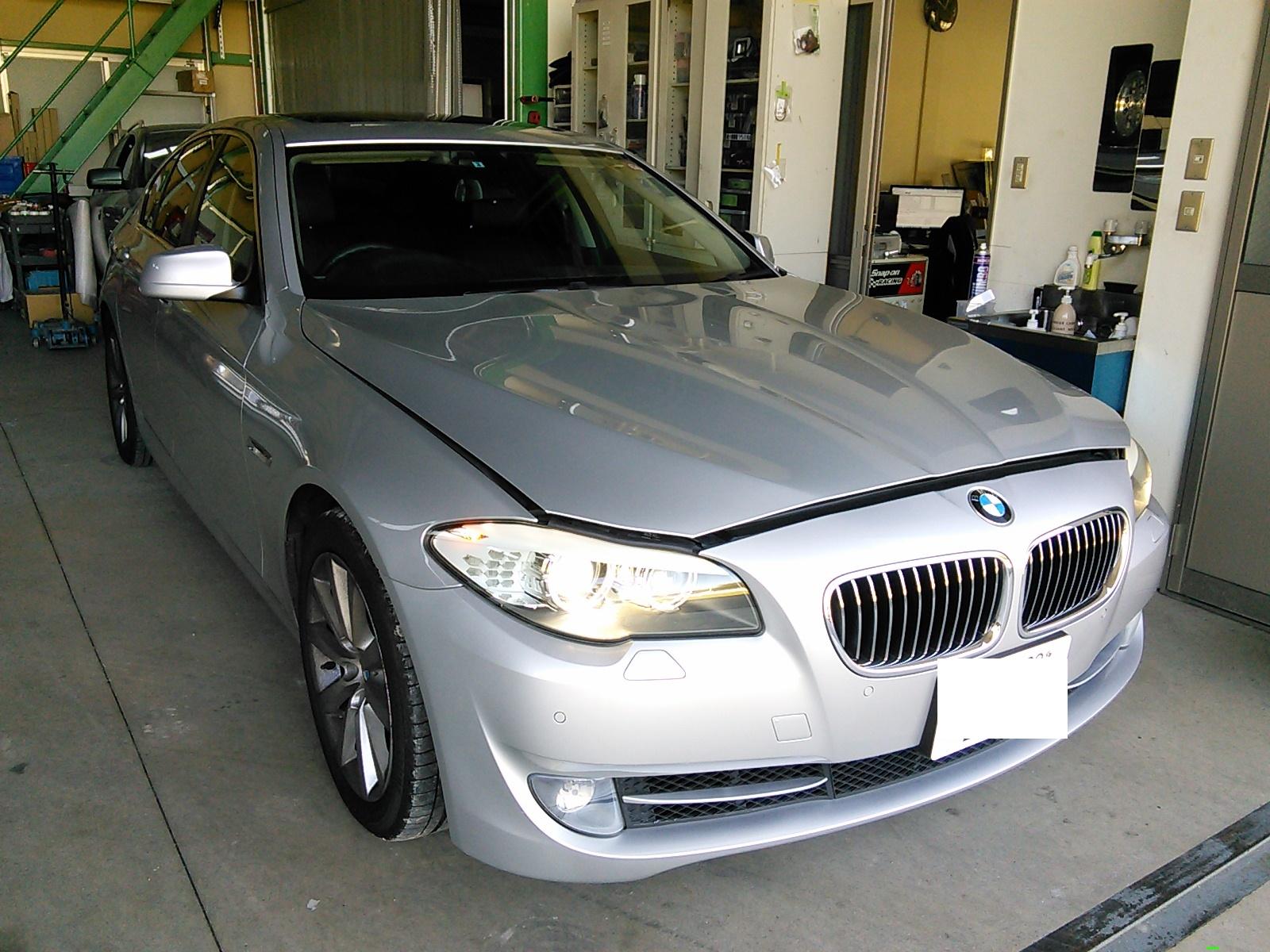 BMW535 F10 低ダストブレーキパッド(breni.com )交換 1ヶ月後のダスト量激減