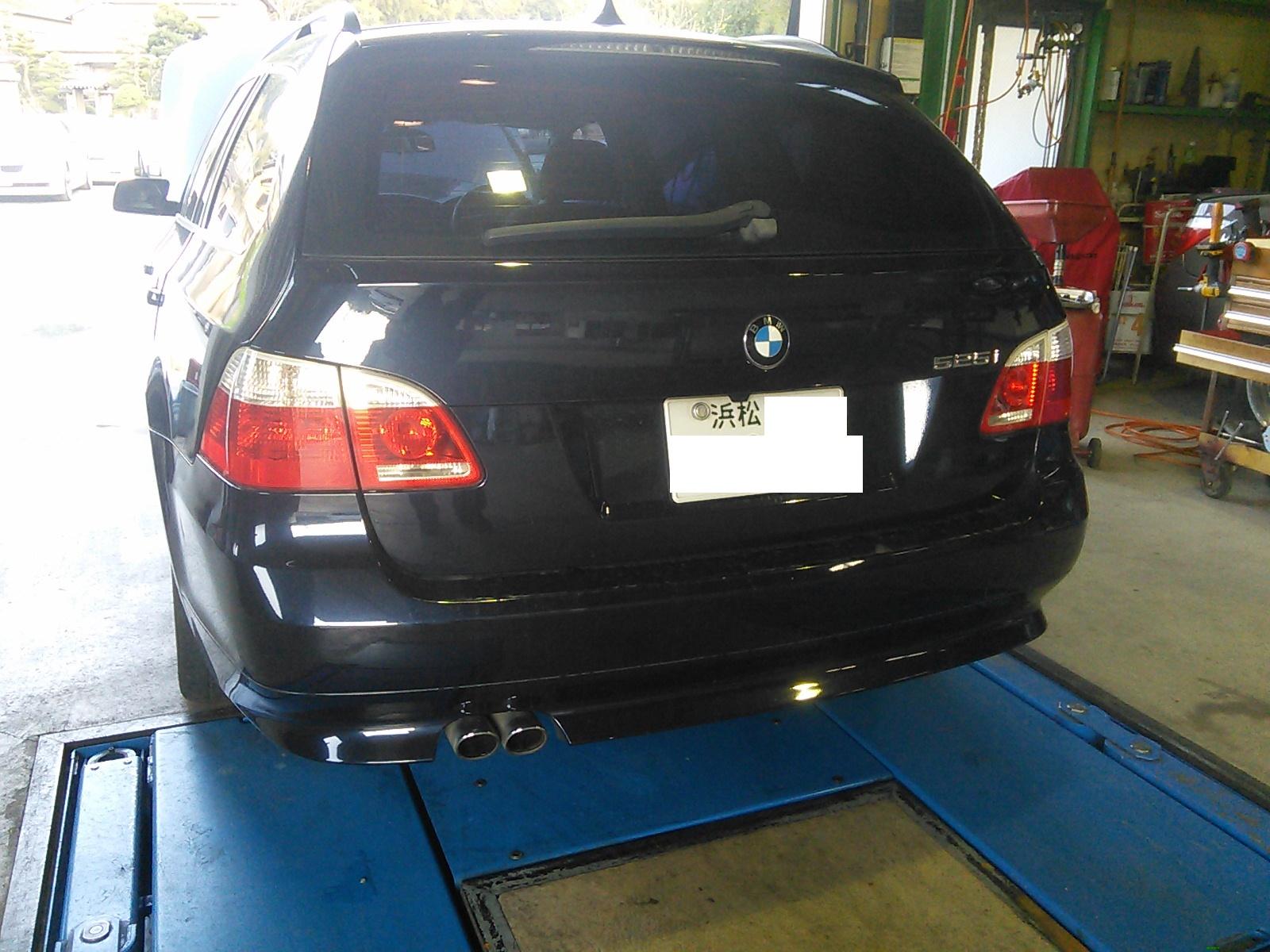 BMW E61 CCCユニット交換 オイル漏れ エアコン修理 ヘッドライトクリア塗装