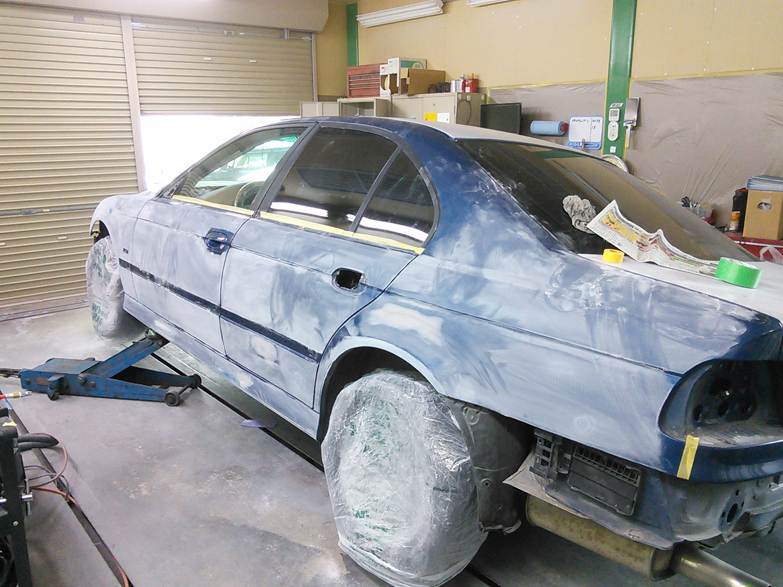 BMW  E39 全塗装 しながらBMW バンパー修理  豊田市  板金塗装