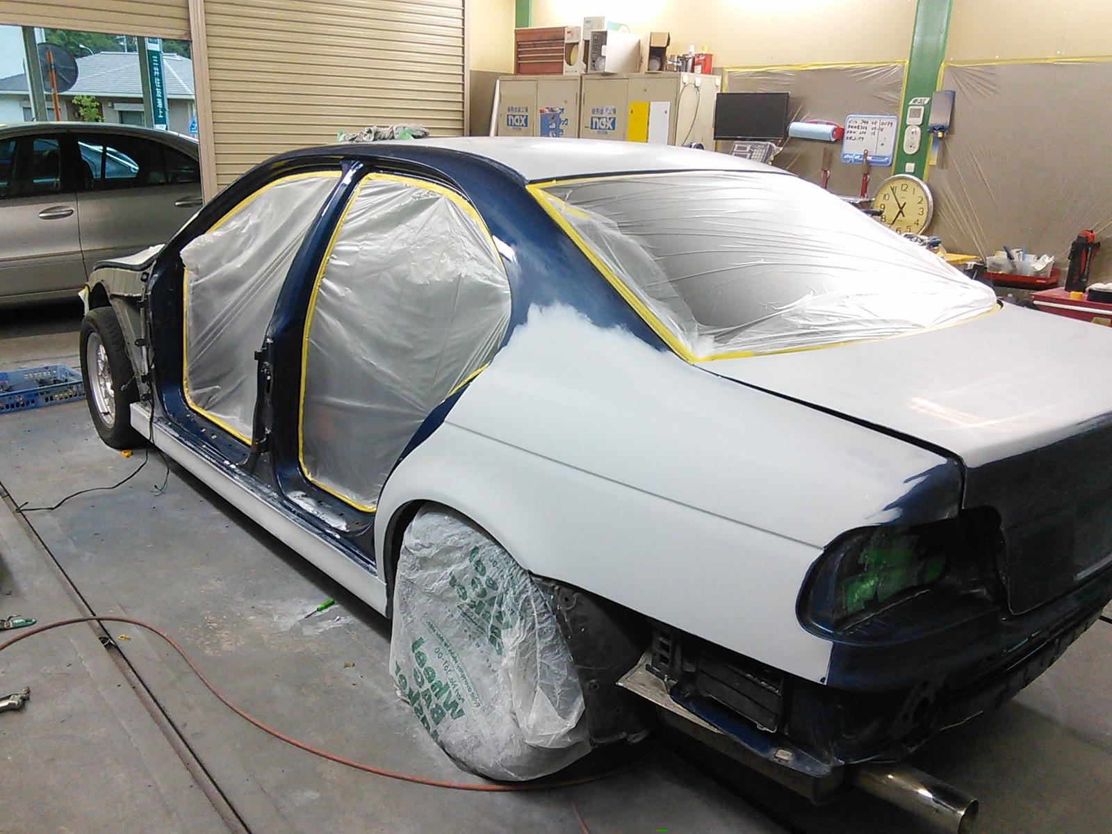 クラウン ワゴン  旧車? バンパー修理  豊田市  板金塗装