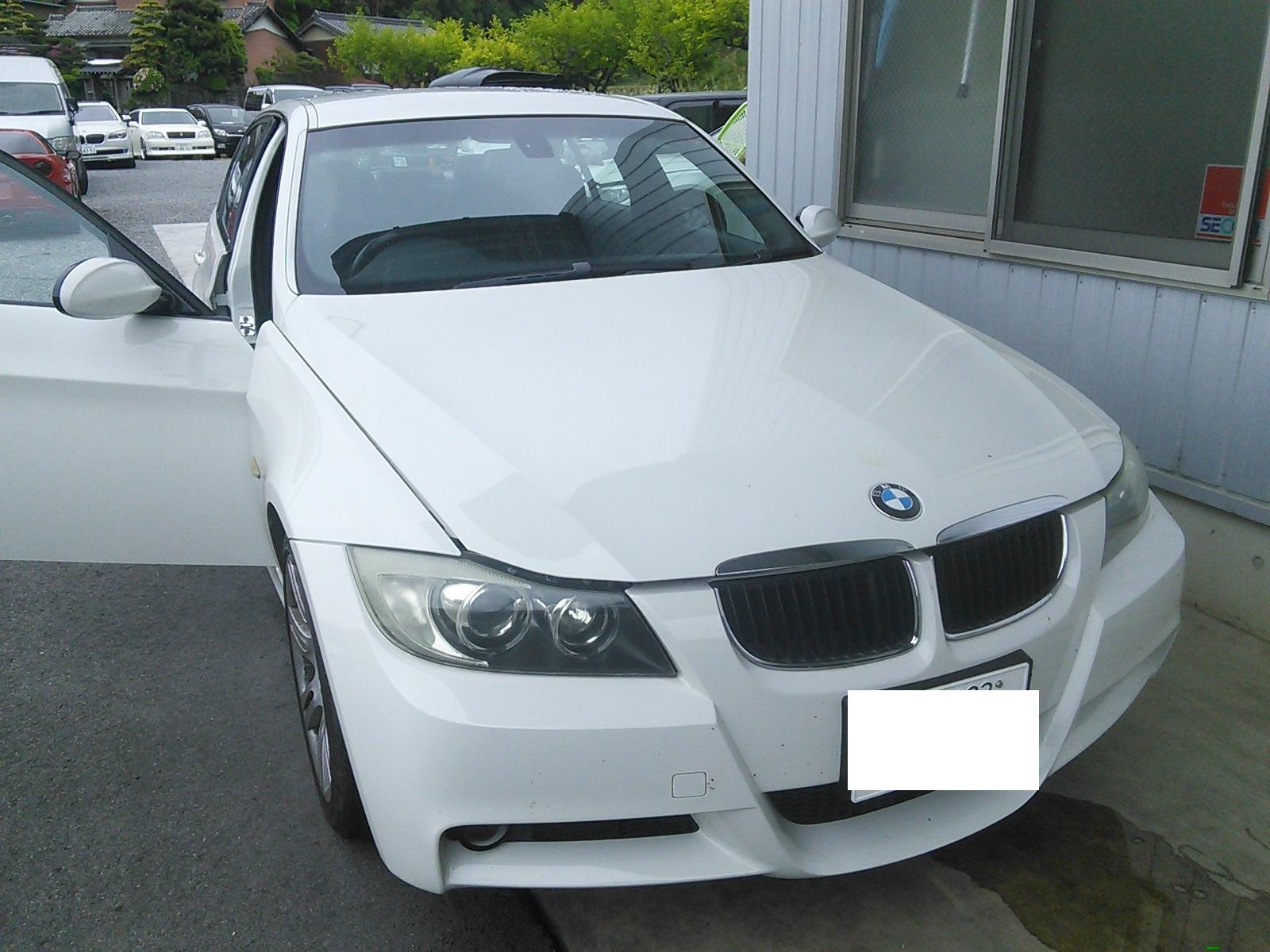 BMW E90 突然エンジンかからず ステアリングロック異常?