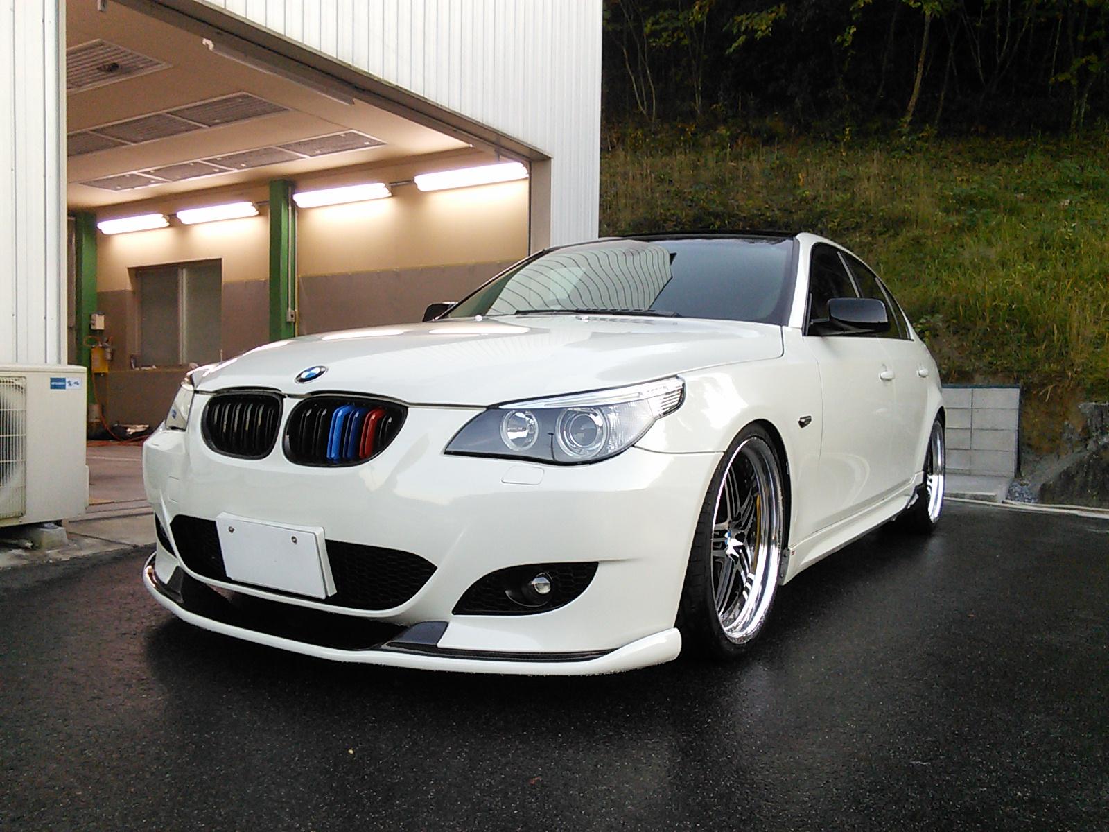 BMW  5シリーズ 事故修理ついでにドレスアップ カスタム  豊田市  板金塗装