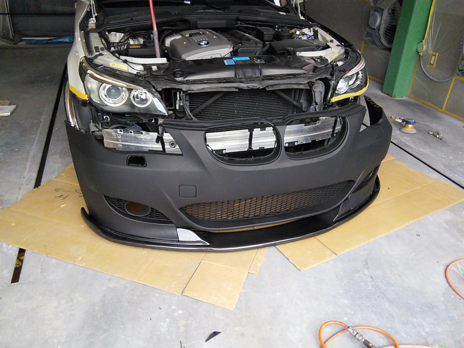 BMW 5シリーズ 事故修理 先週のブログの続き塗装編  豊田市  板金塗装