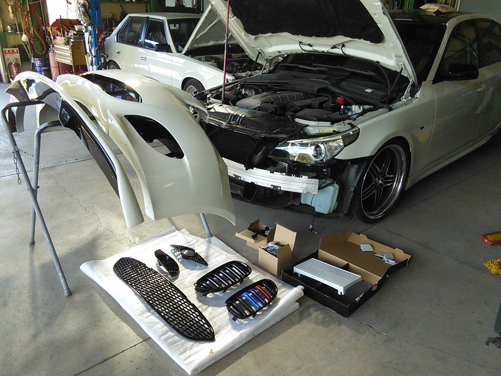 BMW 5シリーズ 事故修理 ドレスアップ完成編  豊田市 板金塗装