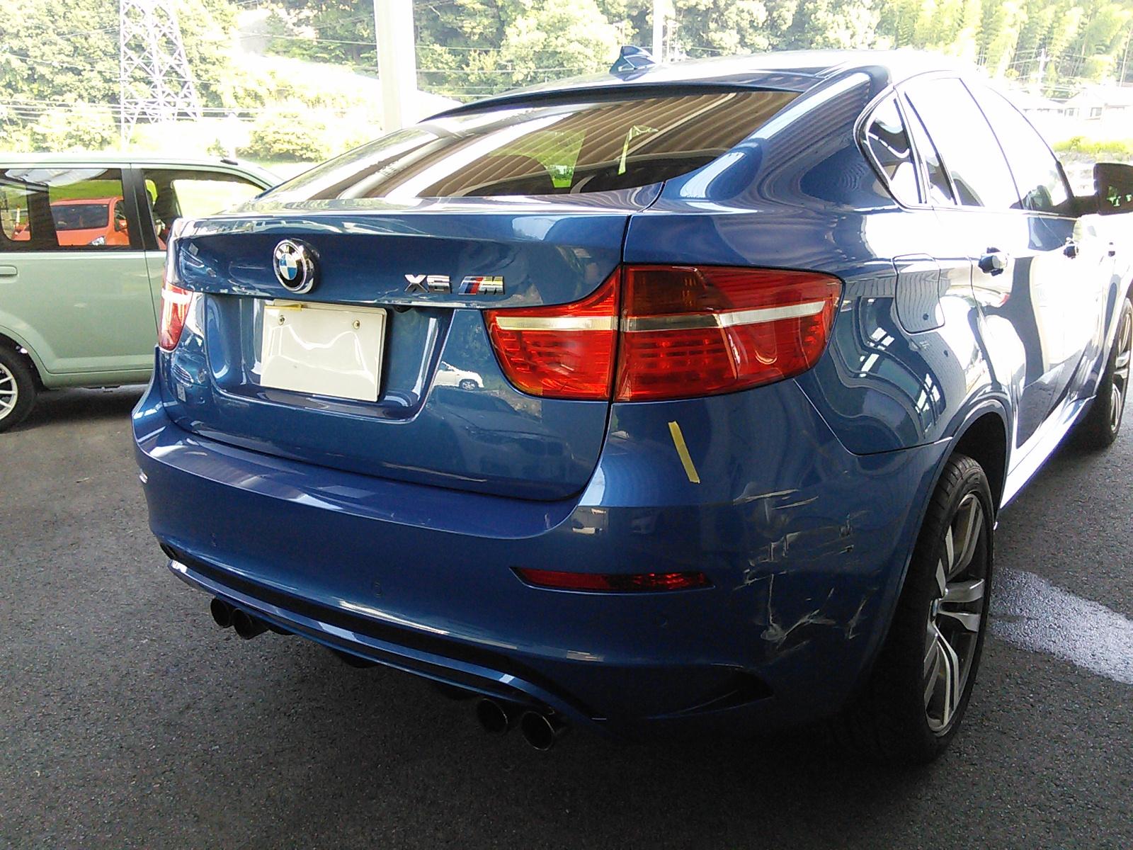 BMW  X6 リアバンパー修理 台風来ないと良いなぁ  豊田市  板金塗装