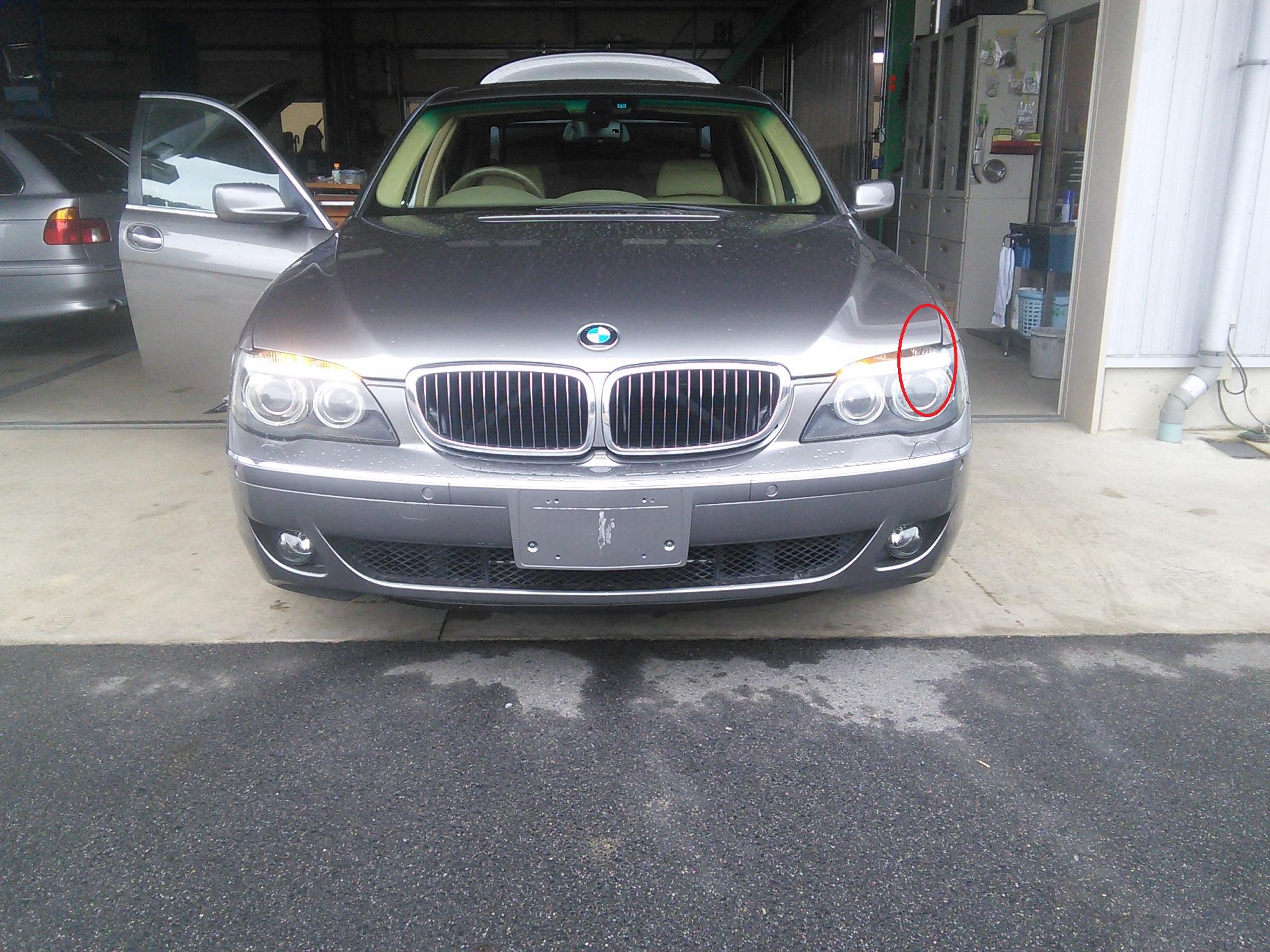 BMW 7シリーズ ウインカー点灯しない ライトモジュール故障