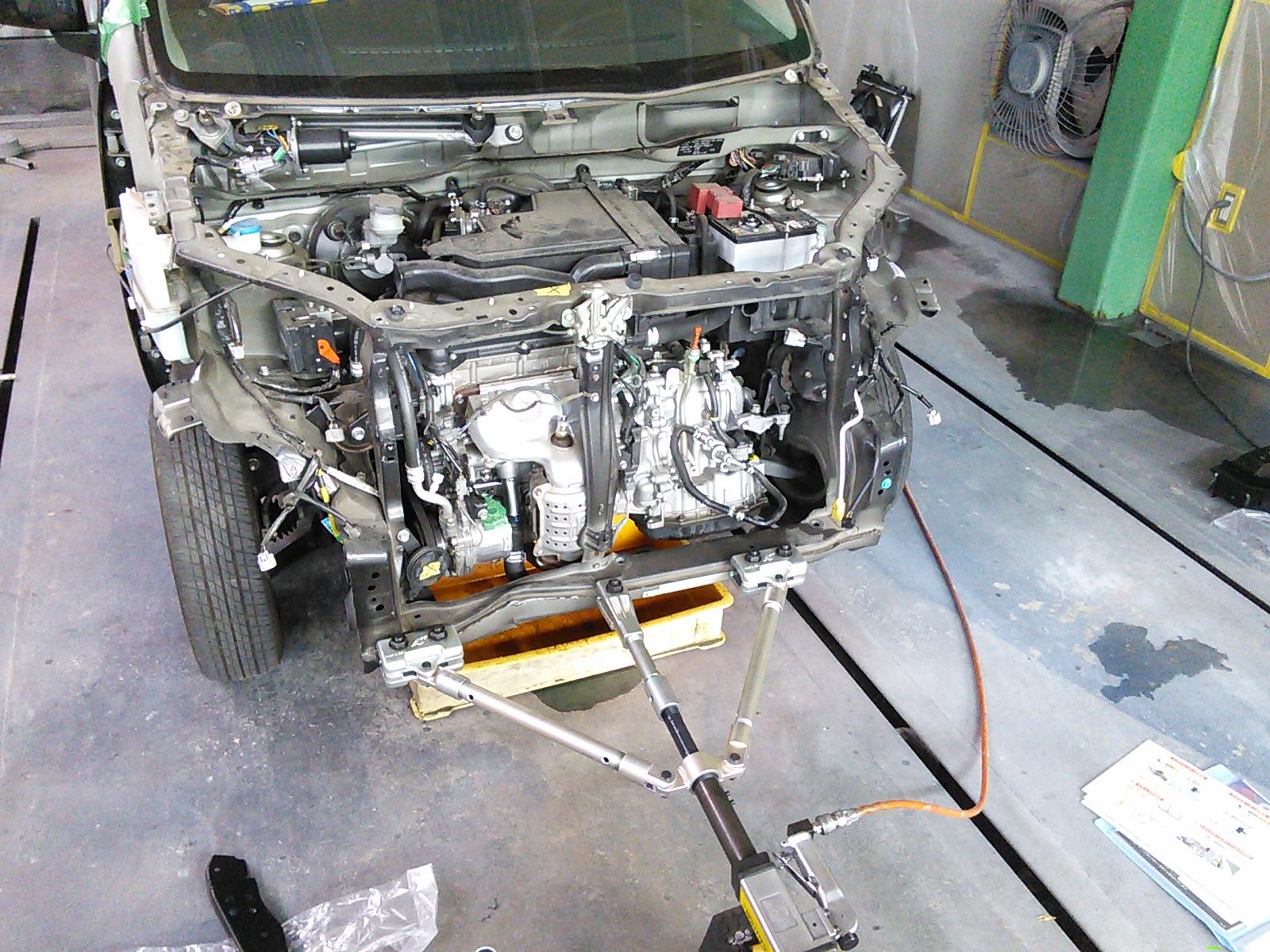 ワゴンR事故修理 コアサポート交換   豊田市  板金塗装