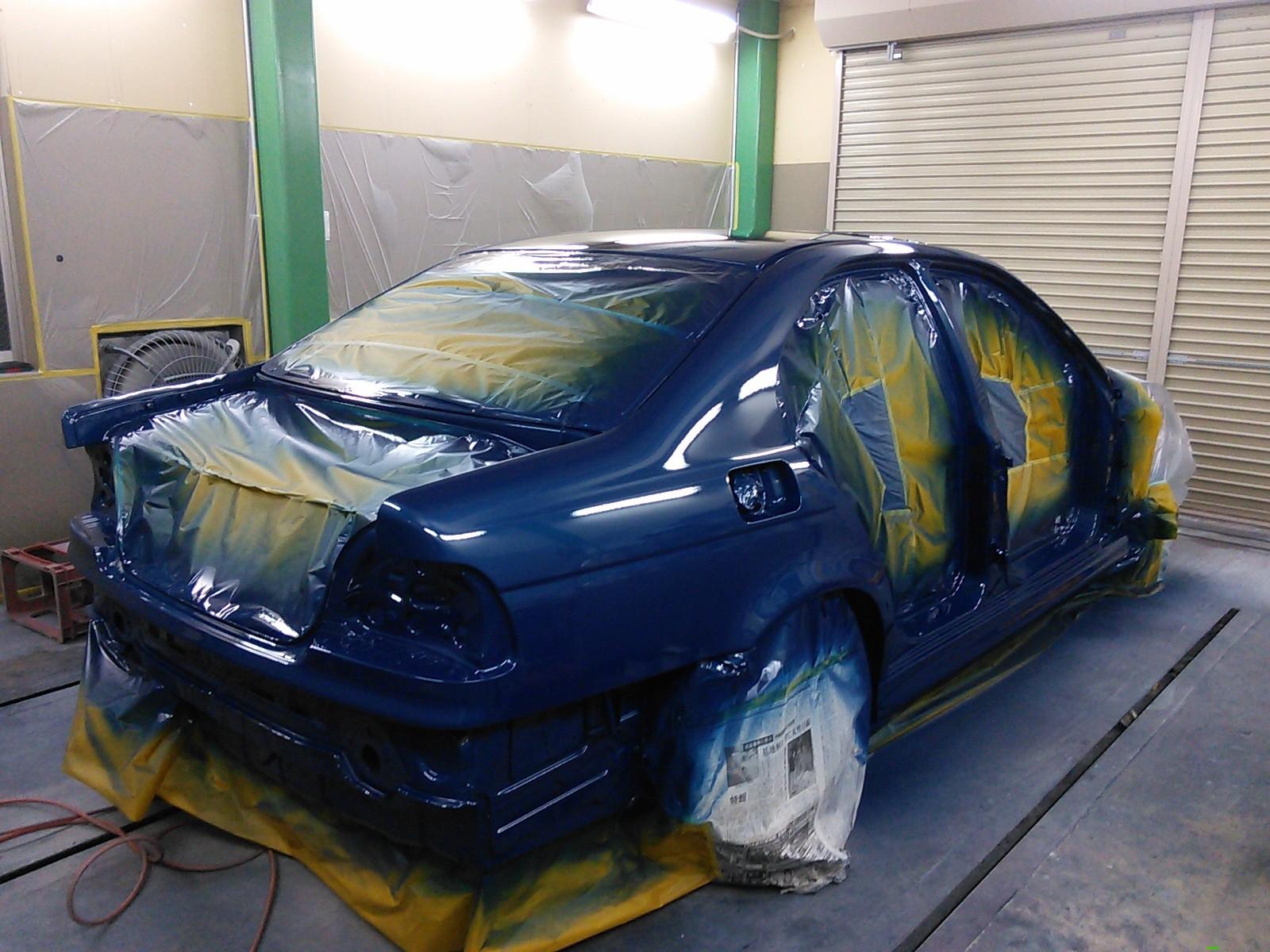 BMW 5シリーズ  E39 全塗装 その5   豊田市   板金塗装