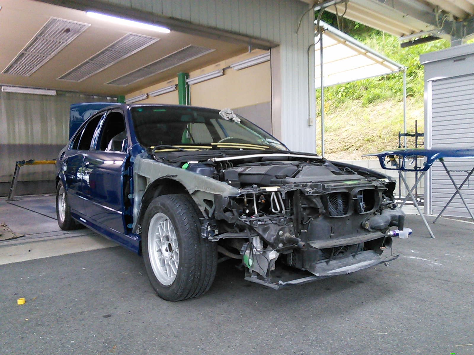 BMW E39 5シリーズ 全塗装 その6  豊田市  板金塗装