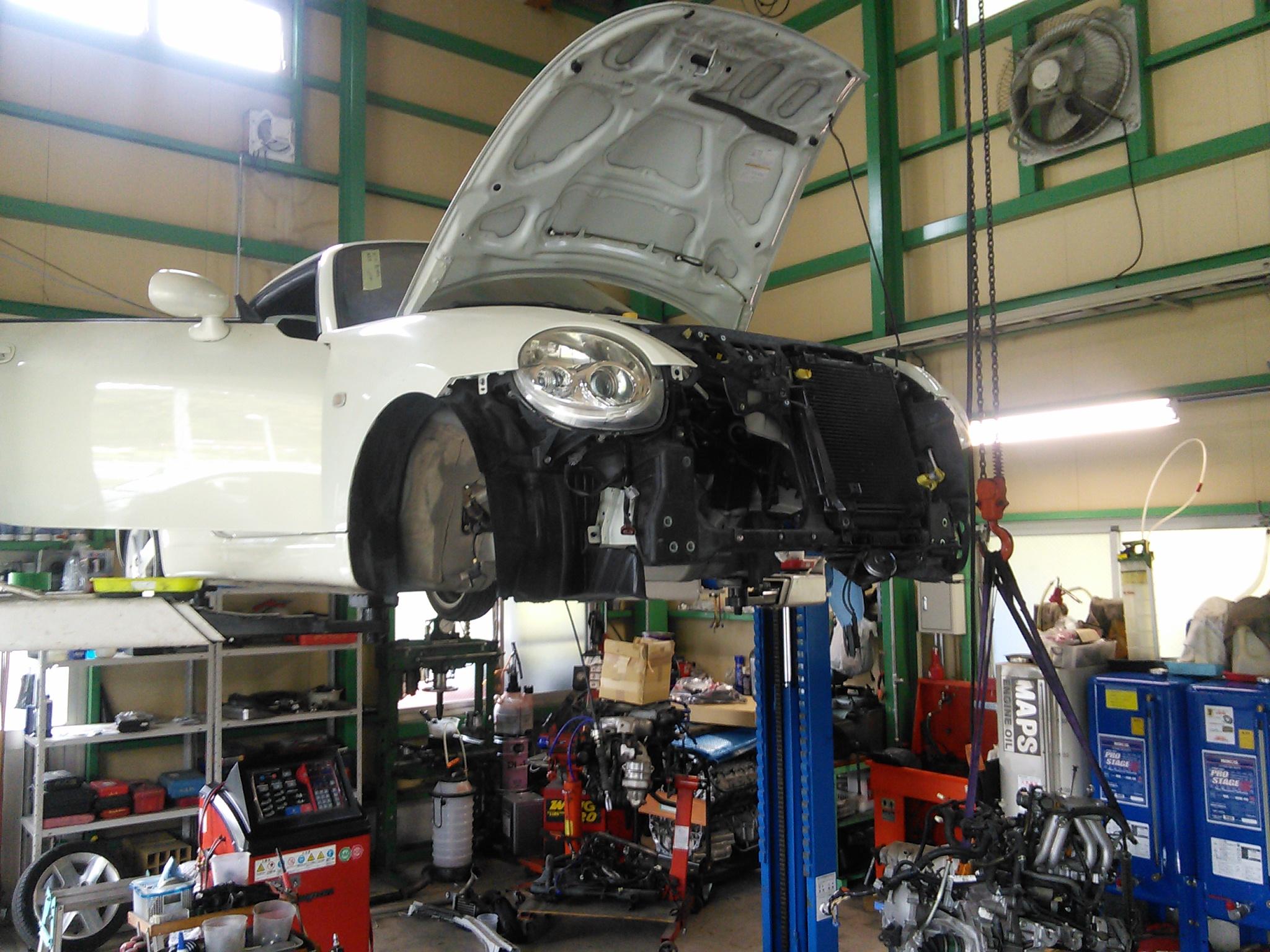 ダイハツコペンエンジン異音修理 BMW E90スナップオンエアコンシステム施工