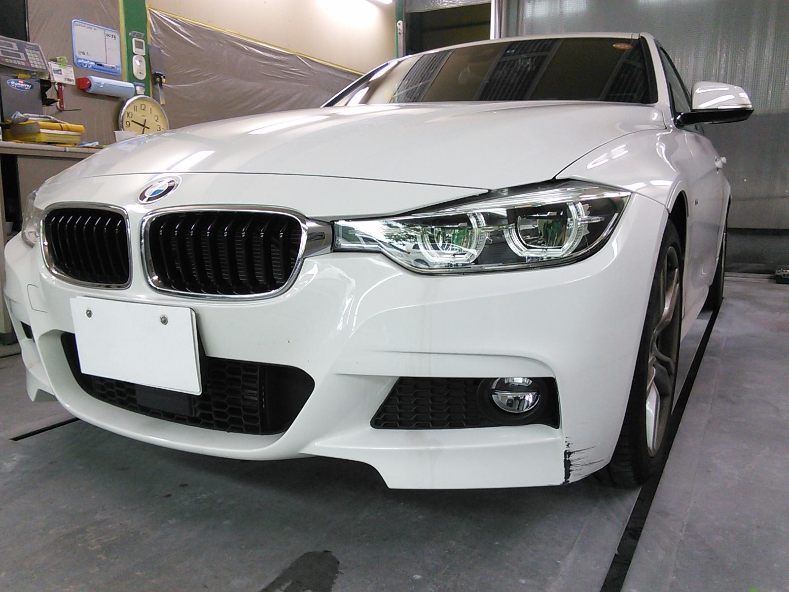 BMW フロントバンパー キズ修理 豊田市  板金塗装