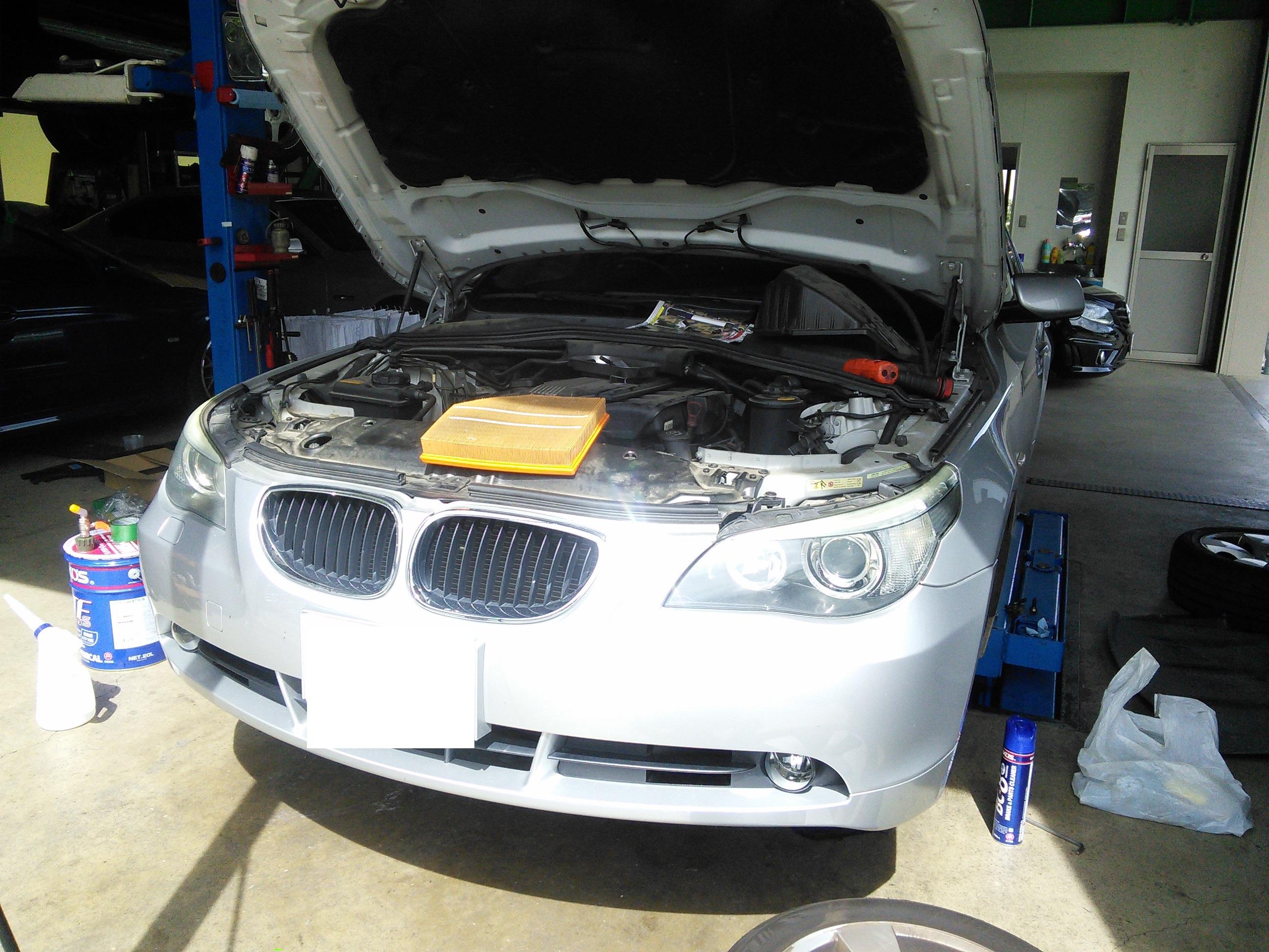 BMW E60 車検整備 ATオイル交換など