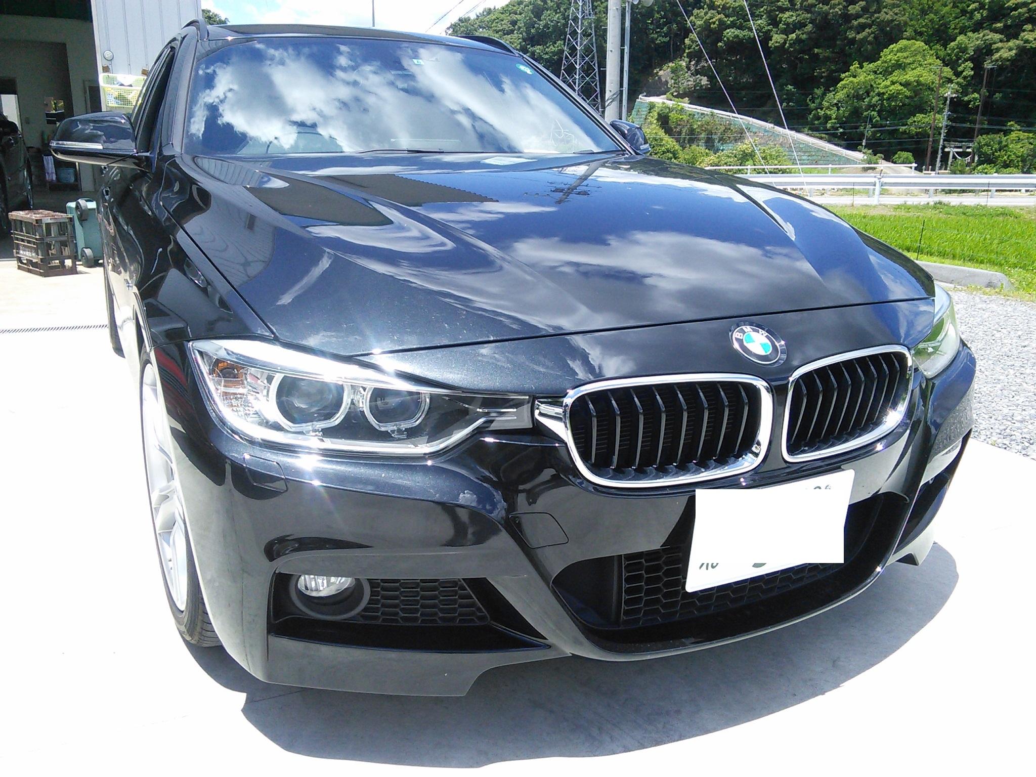 BMW F31 車検整備 ナビ更新 F11リヤパッド交換(電子パーキング付き)診断機必須