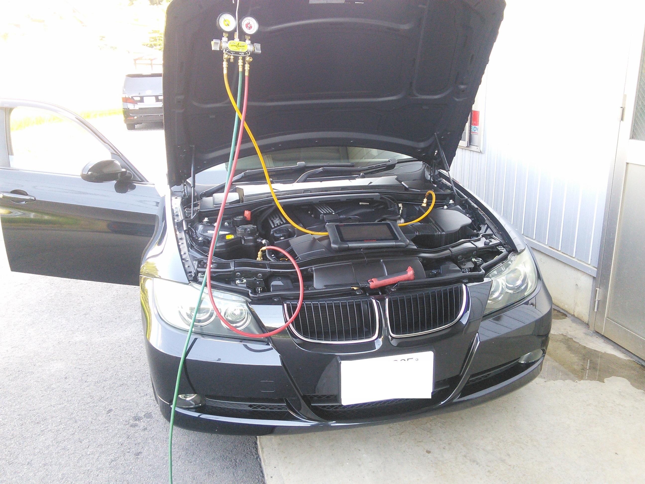 BMW E91 エアコン修理
