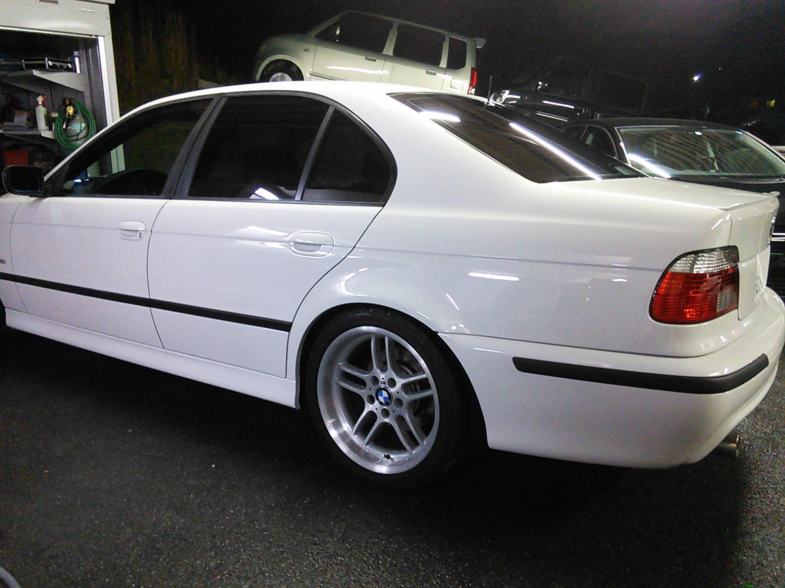 BMW  E39 リアクオーター リアバンパー修理ついでにプチレストア  豊田市  板金塗装
