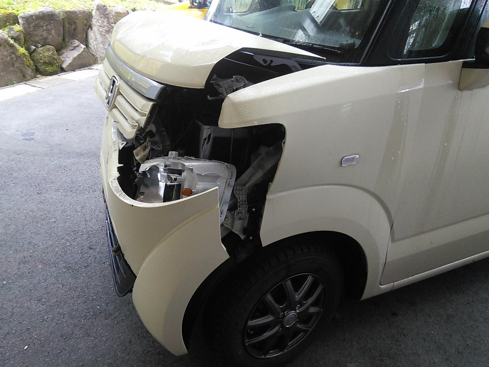 N-BOX 廃車? 何とか1週間で完成  豊田市  板金塗装