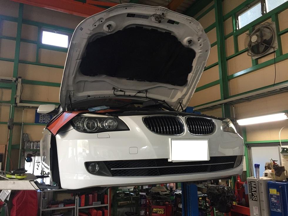 BMW E60 水漏れ ラジエータ交換など