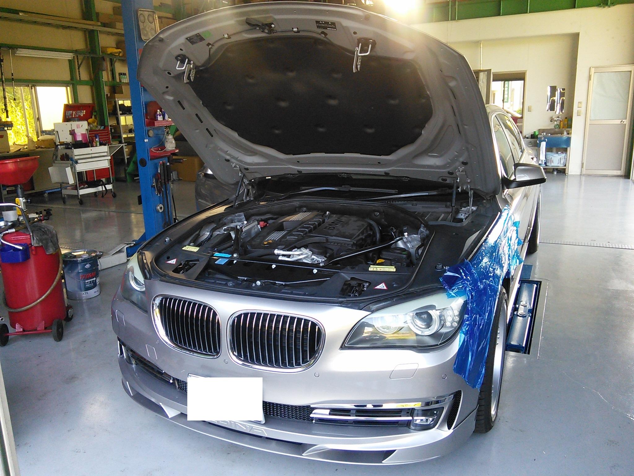 BMW 740 エンジン不調 高圧ポンプ交換 エアコン効かない修理 修理には診断機必須です