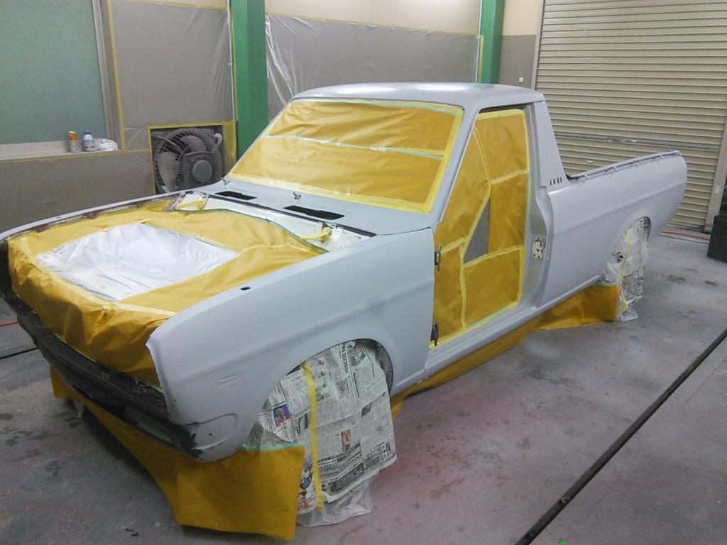 サニトラ全塗装  レクサスIS-F Fスポイラー取り付け  豊田市  板金塗装