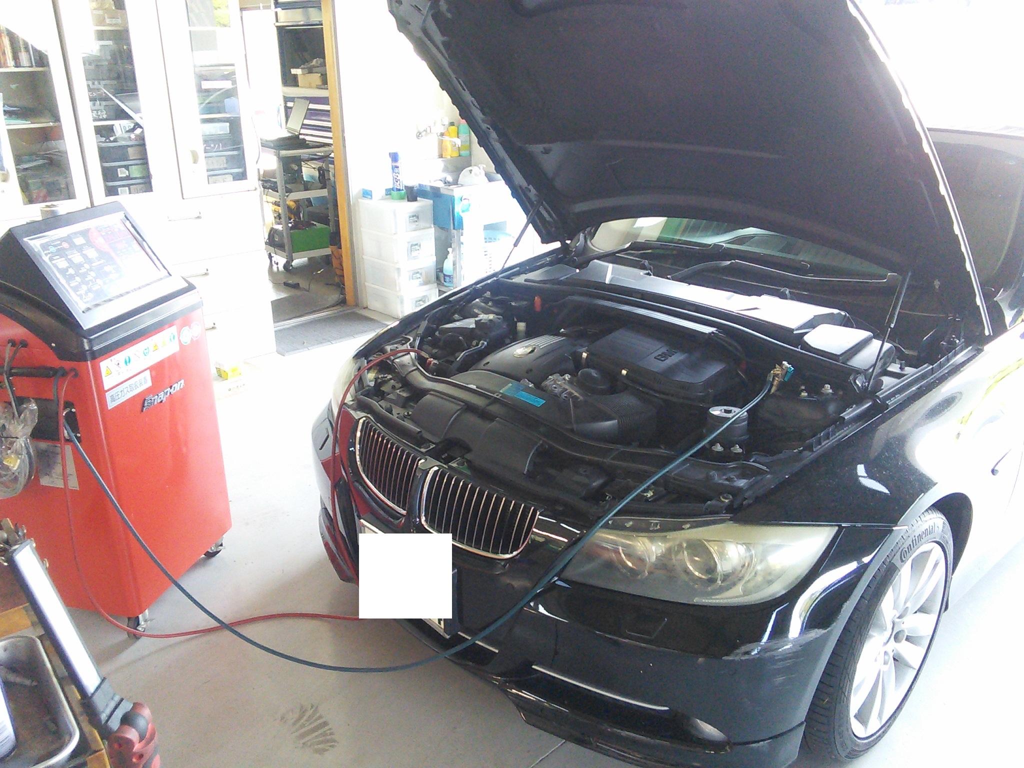 エアコンガスはグラム管理が必須です スナップオンエアコンシステム施工 ご依頼お待ちしています