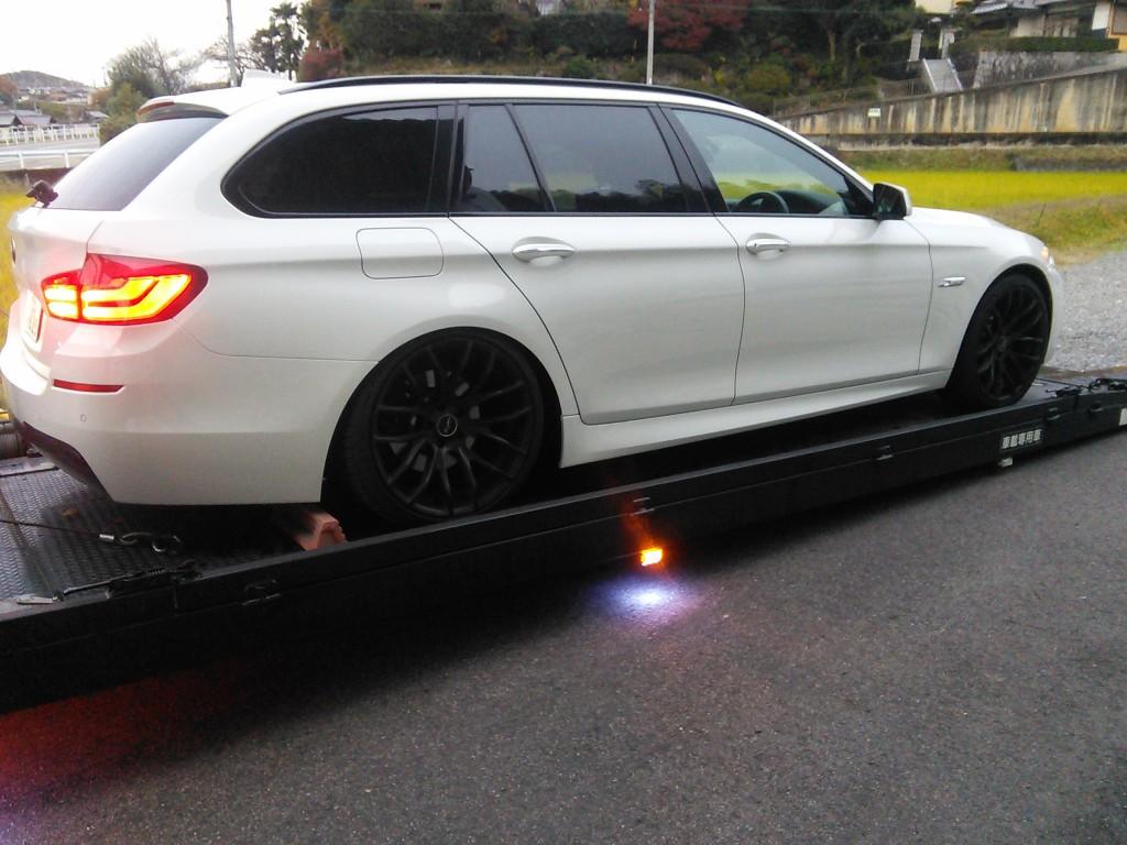 BMW F11 エアサス交換は早めに ポンプも故障 エアサスは社外品要注意