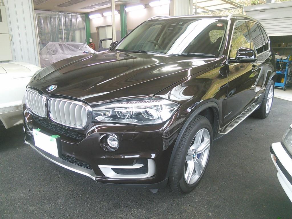 BMW  X5 リアスポイラー修理  豊田市 板金塗装
