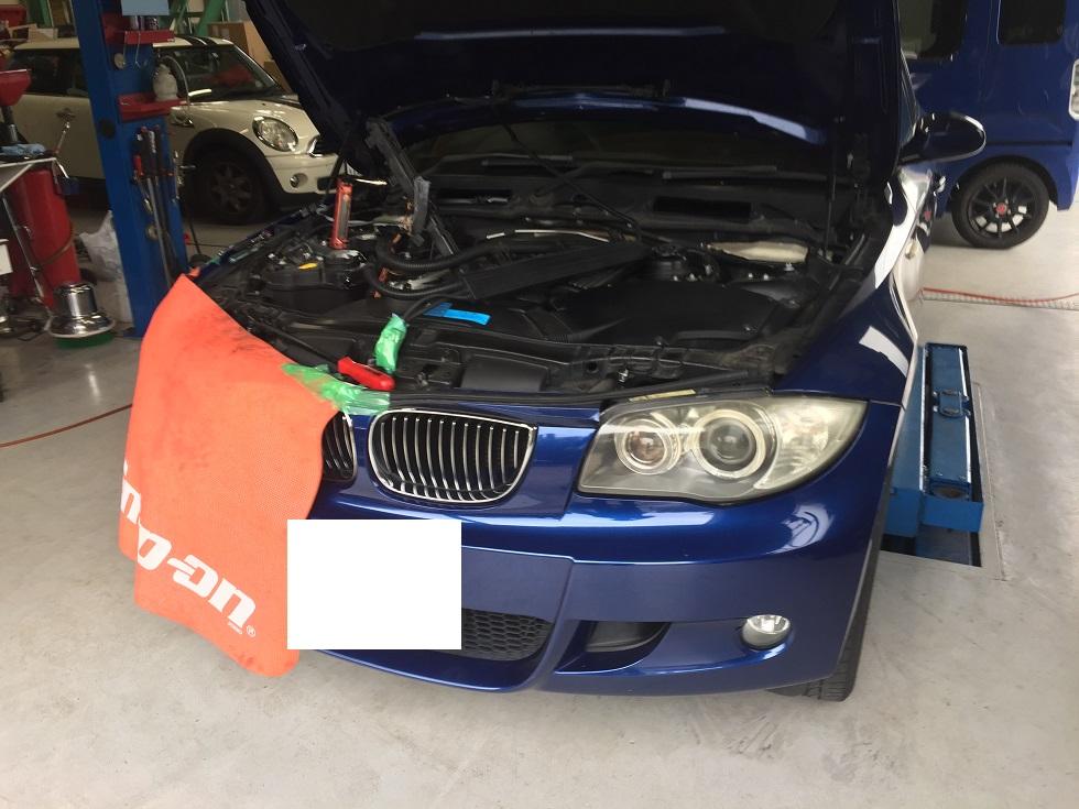 BMW 1シリーズオイル漏れ