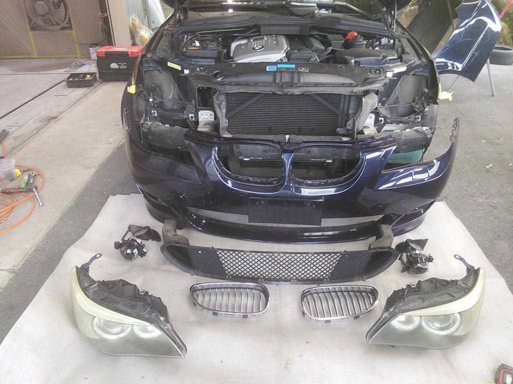 BMW 525   リフレッシュ作業 プチ レストア   豊田市   板金塗装