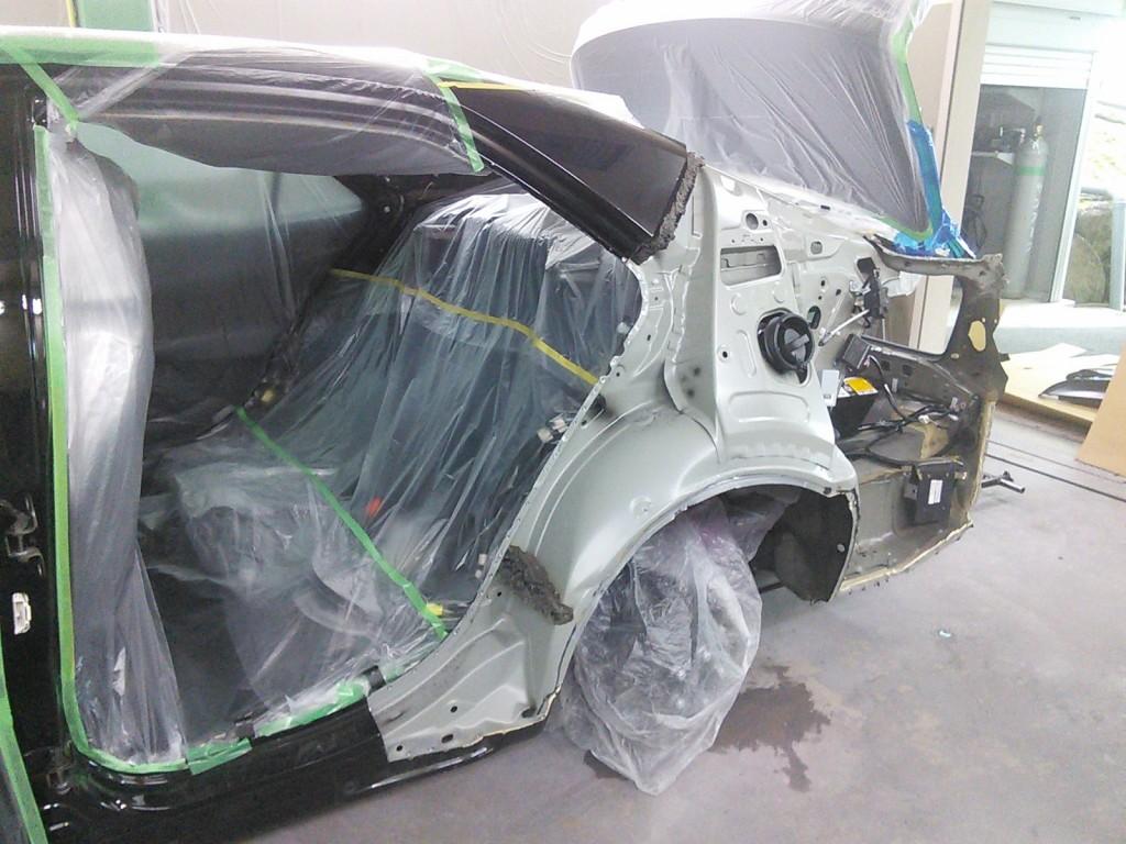 コペン 事故修理 ついでにヘッドライトコーティング  豊田市  板金塗装