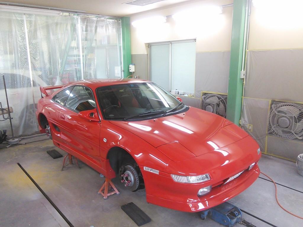 MR-2 SW20 ブレーキキャリパー塗装         豊田市  板金塗装