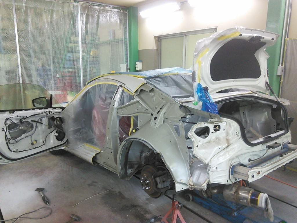 FT86クオーター交換 レクサスHS250hクオーター&バンパー修理
