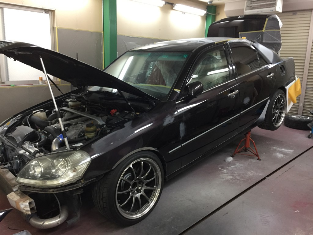 JZX110 マークⅡ  全塗装 その2  豊田市   板金塗装