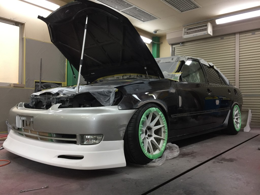 JZX110 マークⅡ 全塗装  その3   豊田市  板金塗装